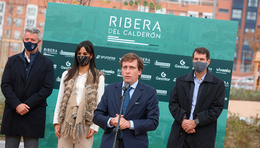 Alcalde de Madrid en la presentación de Ribera del Calderón