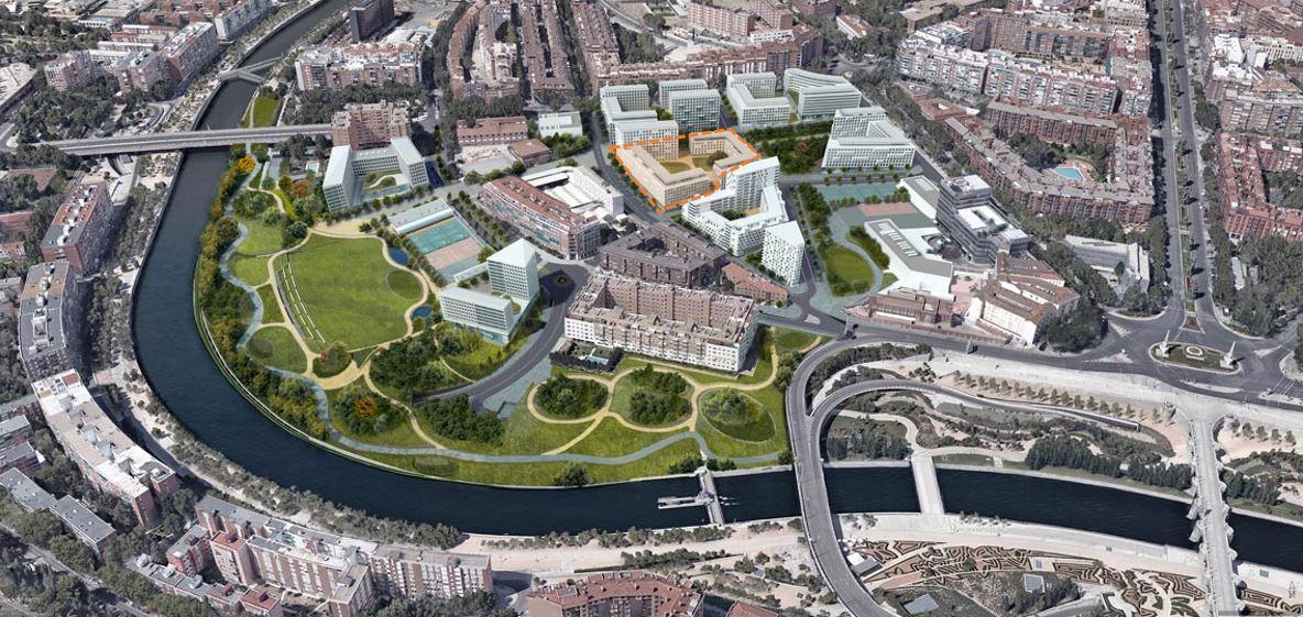 Vista aérea del proyecto Ribera del Calderón