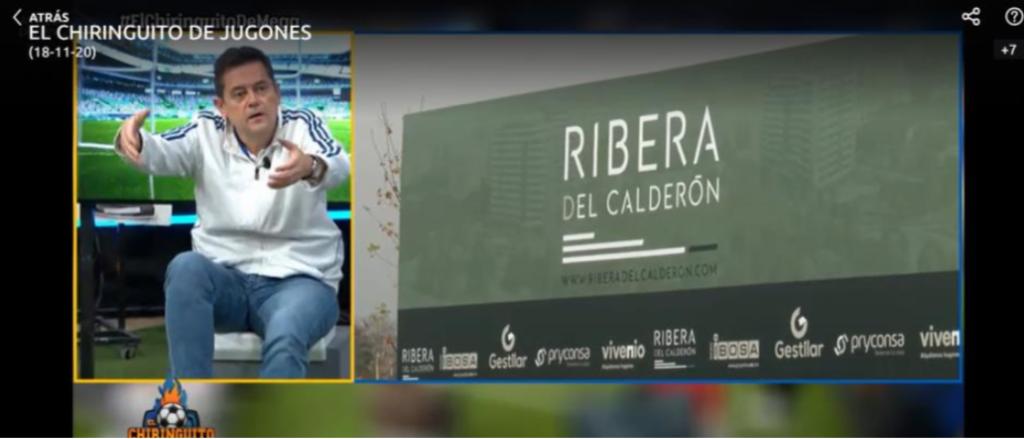 Ribera del Calderón en Chiringuito de Jugones